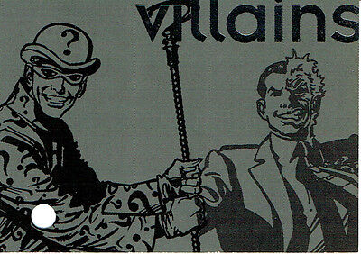 Batman Forever Nocotvision Cancelled Villains Card Produced By Dynamic Marketing