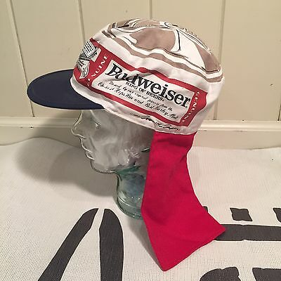 Vintage 1980's BUDWEISER BEERCAN Beer Hat Cap With Tails NOS WITH TAGS L party