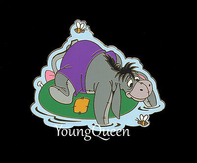 Disney Poohs Friend Eeyore Floating on Inner Tube Bumble Bees Pin