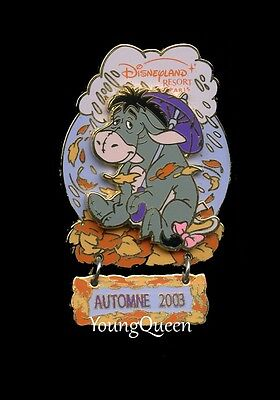 DLRP Disney Winnie the Pooh's Eeyore Under Umbrella Automne Le Dangle Pin