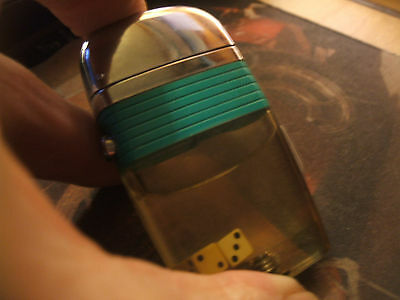NIce Vintage, Working  Scripto Vu Lighter With Two dice. Light Use