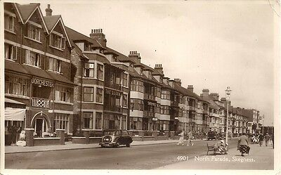 Lovely Scarce R/p Postcard - North Parade - Skegness - Lincolnshire  C.1945