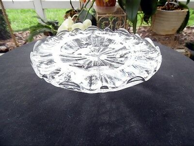 Fostoria Elegant Glass Chintz Crystal Clear Footed Bon Bon Compote Service Dish