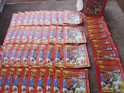 300 + Unopened Packets Panini Scottish Premier League 2000 Stickers Boxed