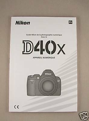 FRENCH Nikon D40X Instruction Manual ORIGINAL BOOK New