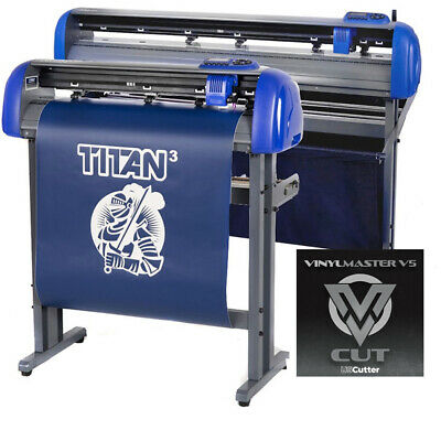 "28"" USCutter TITAN 3 Professional Sign Vinyl Cutter w/ARMS Contour Cut + Basket"