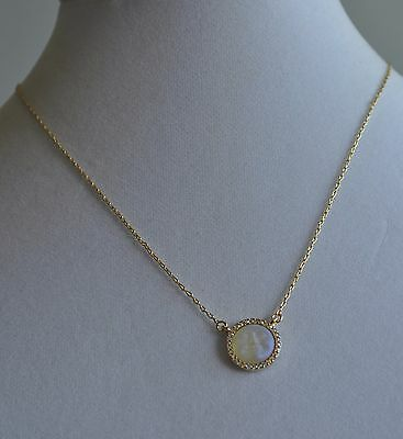 Kirks Folly Seaview Moon Petite 12Mm Dream  Stone Jonquil Gold Tone Necklace