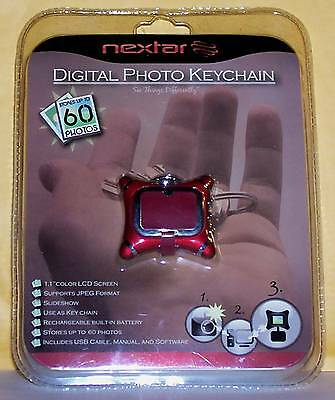 NEXTAR Digital Photo Keychain Brand New Mini Purse Design In Blister Package
