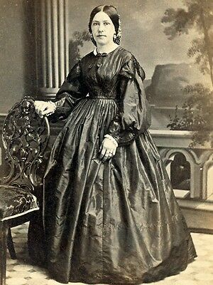 Civil War Cdv Fine Lady By Evans & Prince Of York Pennsylvania