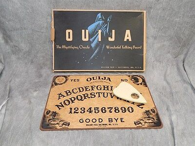 Early William Fuld Ouija Board with Planchette and orig. Box before Parker bros