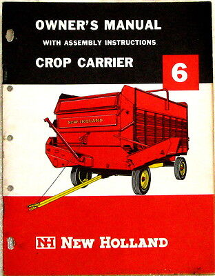 New Holland Crop Carrier 6 Owner's Manual c