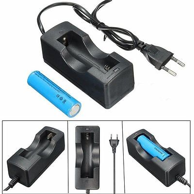 3800mAH BRC 3.7v 18650 Battery Rechargeable Li-ion Battery Power EU Charger