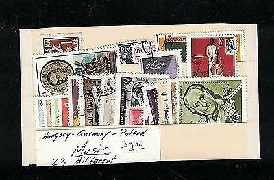 Hungary - Germany - Poland - Music Topical - 23 Different 10¢ Each