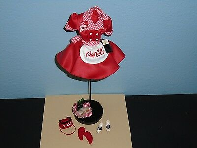 BARBIE Coca Cola (Coke) Car Hop 1st in Series De-Boxed FASHION 1998'