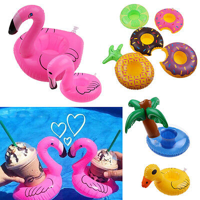 Cute Inflatable Floating Swimming Pool Beach Drink Can Cup Beer Holder Toy Boat