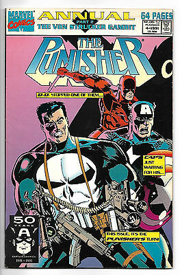 The Punisher Annual #4 1991 Daredevil