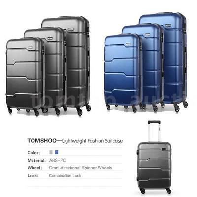 "TOMSHOO Hardside 3 Piece Nested Spinner Luggage Set 20""/24""/28"" PC + ABS Trolley"