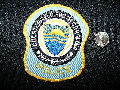 Chesterfield, Sc Police Patch