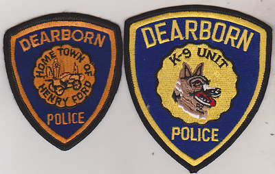 Dearborn MI Police & K9 patches