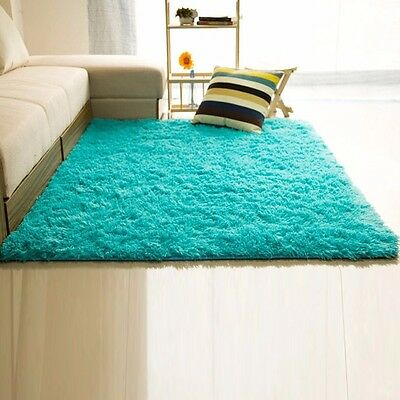 New Fluffy Rugs Anti-Skid Area Rug Dining Room Home Bedroom Carpet Floor Mat