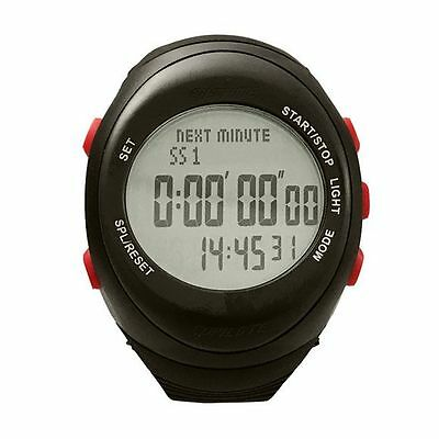 AST RW3 Co-Pilot Rally Watch - Black / Black (Red Buttons) With Grey Display