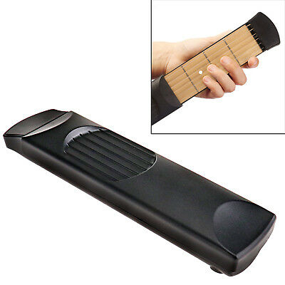 PORTABLE POCKET Guitar Bass Practice Tool 6 String 4 Fret Gadget ...
