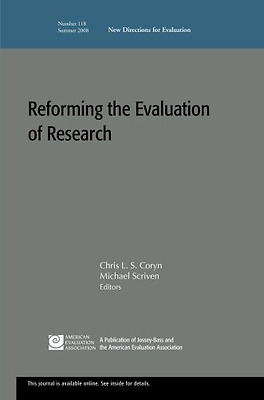 Reforming the Evaluation of Research: New Directions fo - Paperback NEW Chris L.