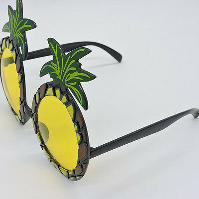 Hawaii Beach Pineapple Sunglasses Yellow Beer Goggles Halloween Funny Gift Party