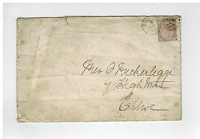 GB QV 1882 COVER 1d LILAC WITH DUPLEX AND REAR CREWE STATION CANCEL