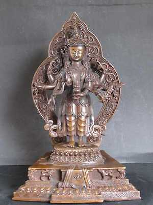 EXCEPTIONAL Bronze from nepal, AMOGHAPASA LOKESWAR