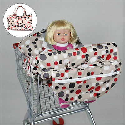 Shopping Trolley Cart Seat Pad Bag Baby Child High Chair Cover Protector AU