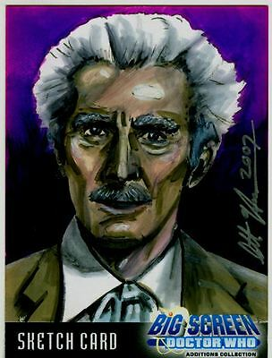 Doctor Who Big Screen Additions Sketch Card By Scott Houseman