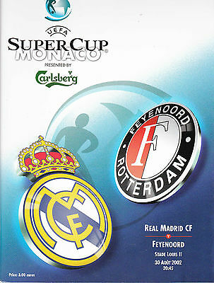 2002 Super Cup Final Real Madrid V Feyenoord