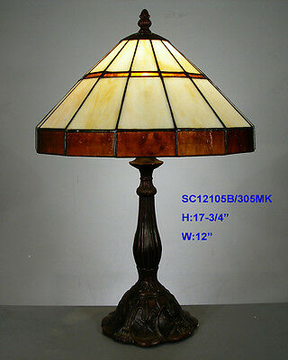 *LIMITED* TIFFANY STAINED GLASS NOUVEAU LEADLIGHT LOUNGE TABLE LAMP Home Decor