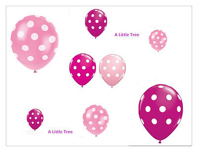 10X Pink&Berry Pink Polka Dots Spots Latex Balloons Birthday Party Decoration