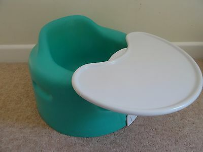 bumbo seat  and tray green
