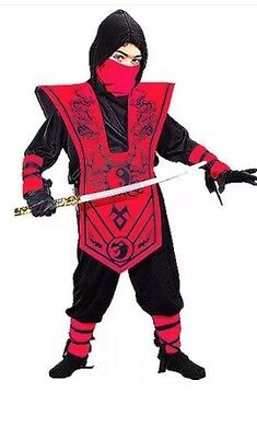 Nwt Ninja Fighter Halloween Costume Dress Up Sz Xl 14 - 16 Assorted Colors