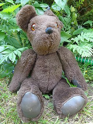 "VINTAGE BROWN TEDDY BEAR 18"" long HAND MADE"