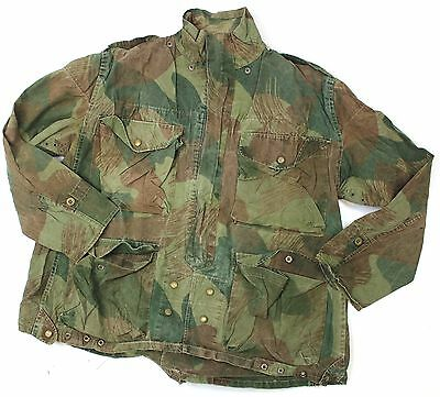 (3) BELGIAN ARMY PARA WINDPROOF SMOCK JACKET in BRUSH STROKE CAMO 1956 DATED