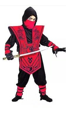 Nwt Ninja Fighter Halloween Costume Dress Up Sz L 10 - 12 Assorted Colors