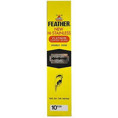 Feather Hi-Stainless Double Edge Blades 200 pack GENUINE for Merkur Muhle Parker