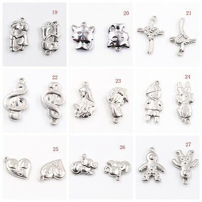 Lot Style jewelry accessories Stainless steel Charms Pendants Fashion DIY SILVER