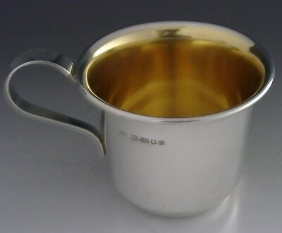 English Sterling Silver Mug Christening Cup London 2004 Mint