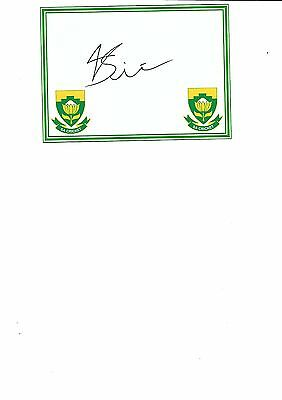 South Africa - Jason Smith   (Hand Signed)
