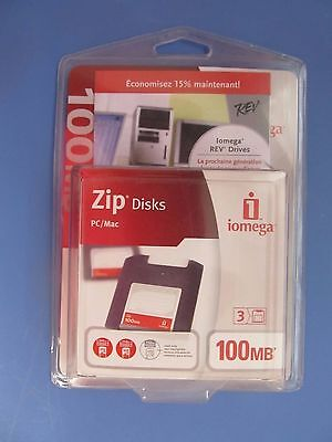 Package of 3 100 MB Zip Disks  Iomega brand   NEW   FREE Shipping!!!!!