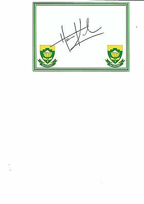 South Africa -  Heino Kuhn  (Hand Signed)