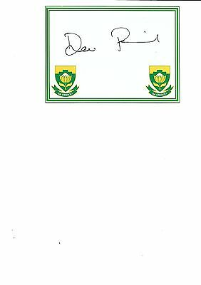 South Africa -  Dane Piedt  (Hand Signed)