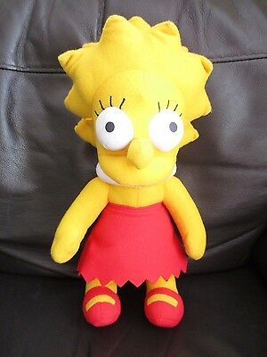 THE SIMPSONS - Lisa Simpson plush soft toy VGC