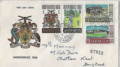 "1966 Barbados ""Independence"" First Day Cover"