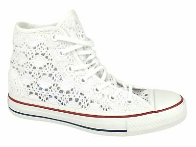 CONVERSE C.T. All Star Specialty Hi sneakers pizzo TESSUTO WHITE BIANCO 549310C